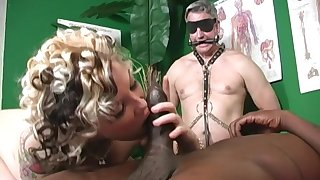 Candy Monroe adores fat and black penis in her mouth and pussy