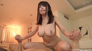 Busty Asian Kirishima Sakura is the real master of memorable fuck