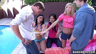 Ashli Orion and her girlfriends cherish unending dicks