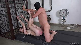 Bitch gets ass spanked overwrought her master then unwrought fucked
