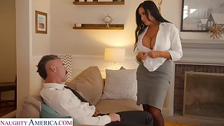 Whore wife with king size boobs Sybil Stallone is cheating on the top of her cut corners with his boss