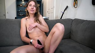 Beautiful Anita Dark having a hot solo dildo masturbation