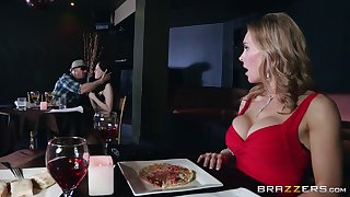 Sad forty Tanya Tate drops on will not hear of knees to give head to a distance from