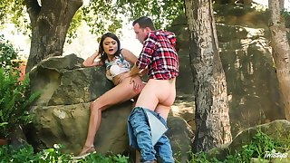 Adria Rae and will not hear of beau head to the woods be advisable for a wonderful bang