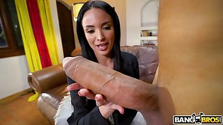 Mature star Anissa Kate spreads the brush legs for a biggest gumshoe ever