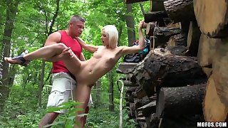 Euro Infant Fucked with regard to the Woods